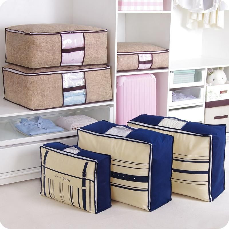 Non-Woven Family Save Space Organizador Bed Under Closet Storage Box Clothes