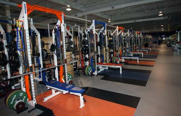 The Facility S 11 500 Square Foot Weight Room Is Endless High School Football High School Drawing High School