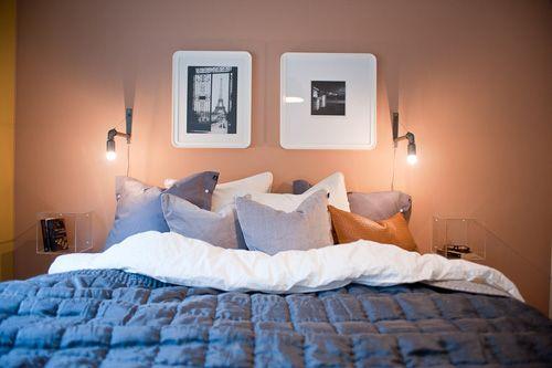 Hitta hem | Fin färgkombination i sovrummet | Solna stadsvillor, Järvastaden, Solna