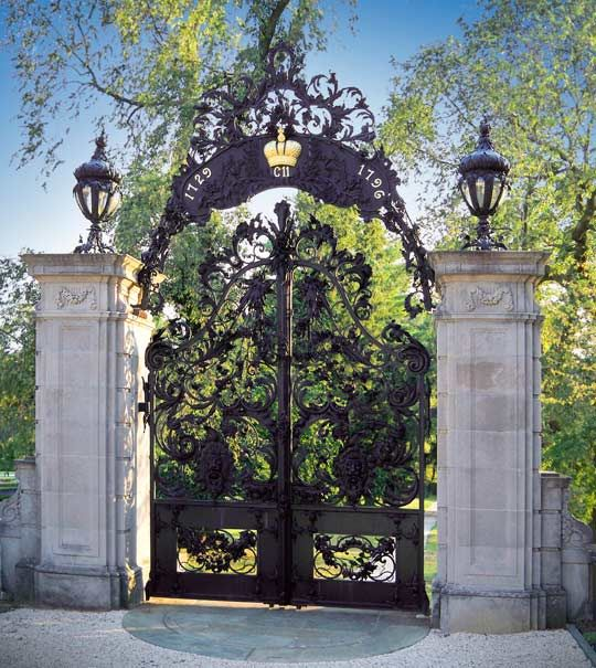 Attributed to JeanTijou, a French designer of ironwork, they are  thought to have been made around 1700.