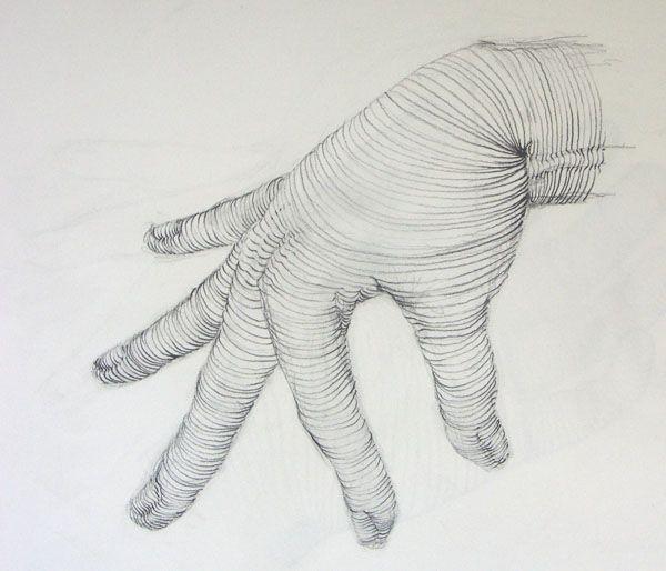 Beginning Drawing: Cross Contour | Drawing Hands - Feet ...