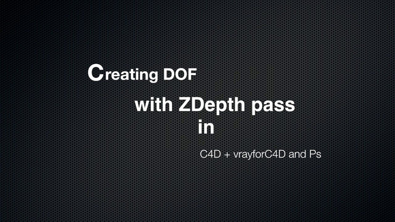 DOF with C4D + vrayforc4d + Ps. In this video will you find out how to make physically accurate depth of field within c4d, vray and photoshop Hit like and share if you find it useful  P.S. sorry for the empty time laps from the end of the video, It was the firs time I use Final Cut with no learning about before, just open and make your need :), so ignore that :D  https://www.facebook.com/claudiuhangadesign  http://claudiuhanga.wix.com/visualisations  http://www.behance.net/portfolio/projects…