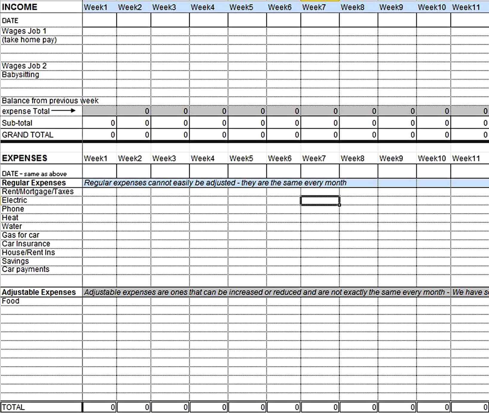 Excel Home Budget Template Budget Planner Template Personal Budget Template Budget Template