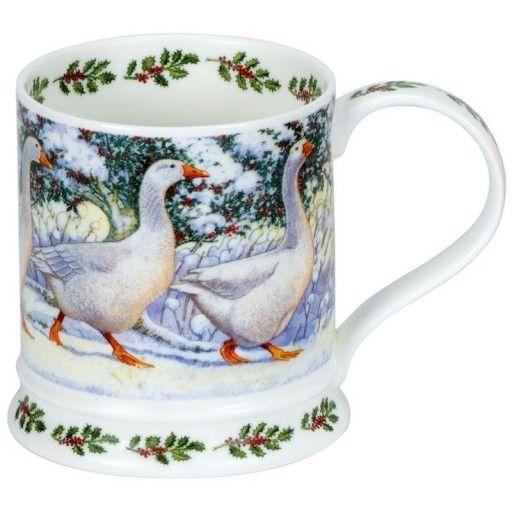 Dunoon Kubek Iona Ptaki Gesi Zima 400ml 6970270163 Oficjalne Archiwum Allegro Birds Christmas Glassware