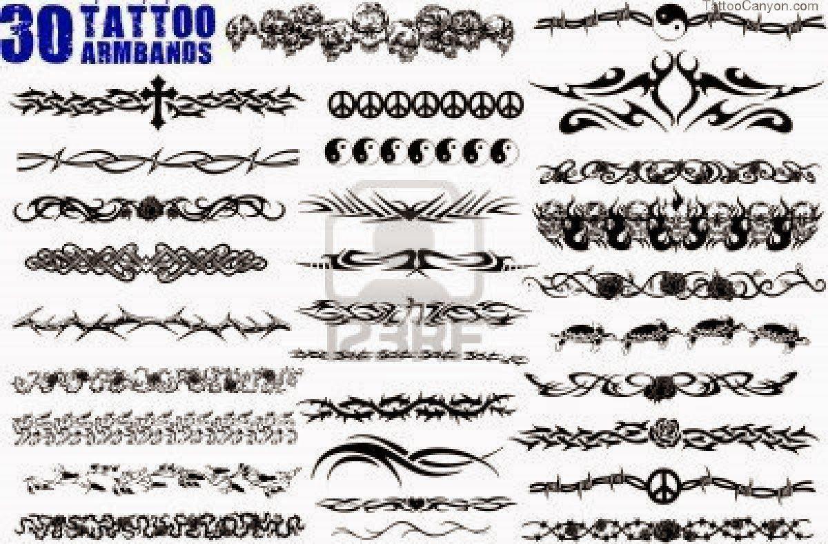 tribal armband tattoo on bicep black tribal armband tattoo on right