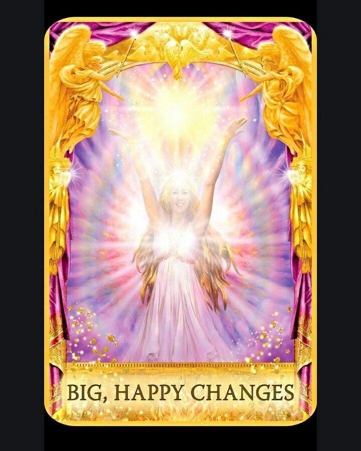 Big happy changes card from angel answers oracle cards