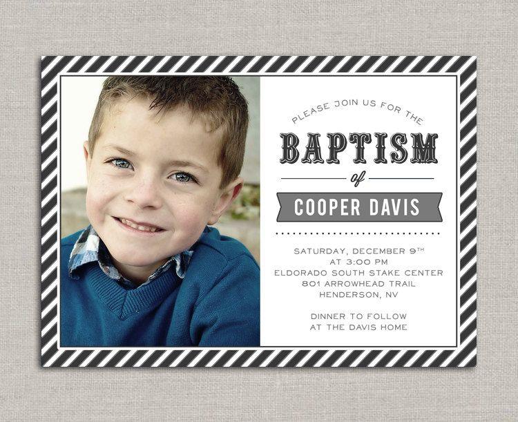 LDS Baptism Invitation - Cooper DESIGNS Pinterest Baptism