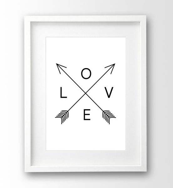 love print typografie schwarz wei poster von nanamiadesign auf tv spot ideas in. Black Bedroom Furniture Sets. Home Design Ideas