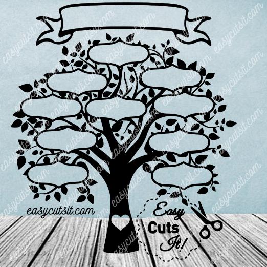 Family Tree 10 SVG, DXF, EPS, PDF, Plus Family tree
