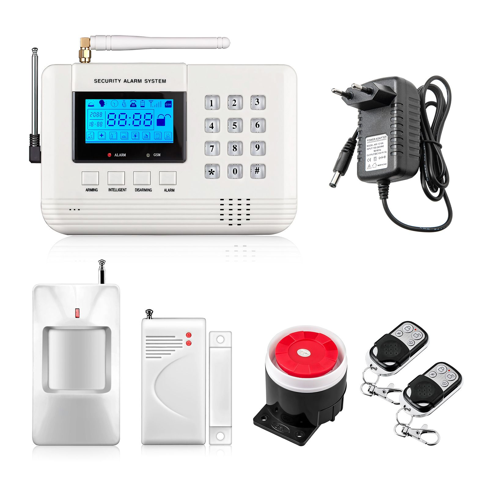New Arrival Lcd Screen 433mhz Remote Control Home Alarm Sms Gsm Pstn Dual Network Home Security Gsm Alarm System Home Security Alarm System Home Security Alarm