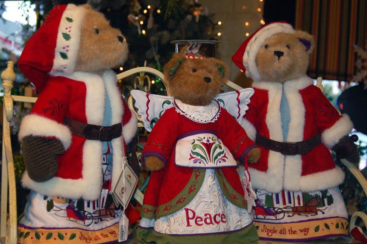 teddy bear holiday Christmas decoration figurines Holiday
