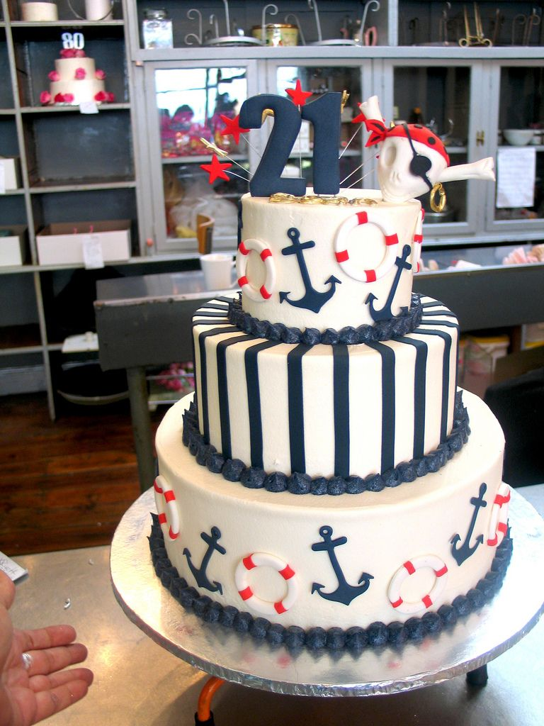 nautical centerpieces tier Wicked Chocolate Nautical themed cake