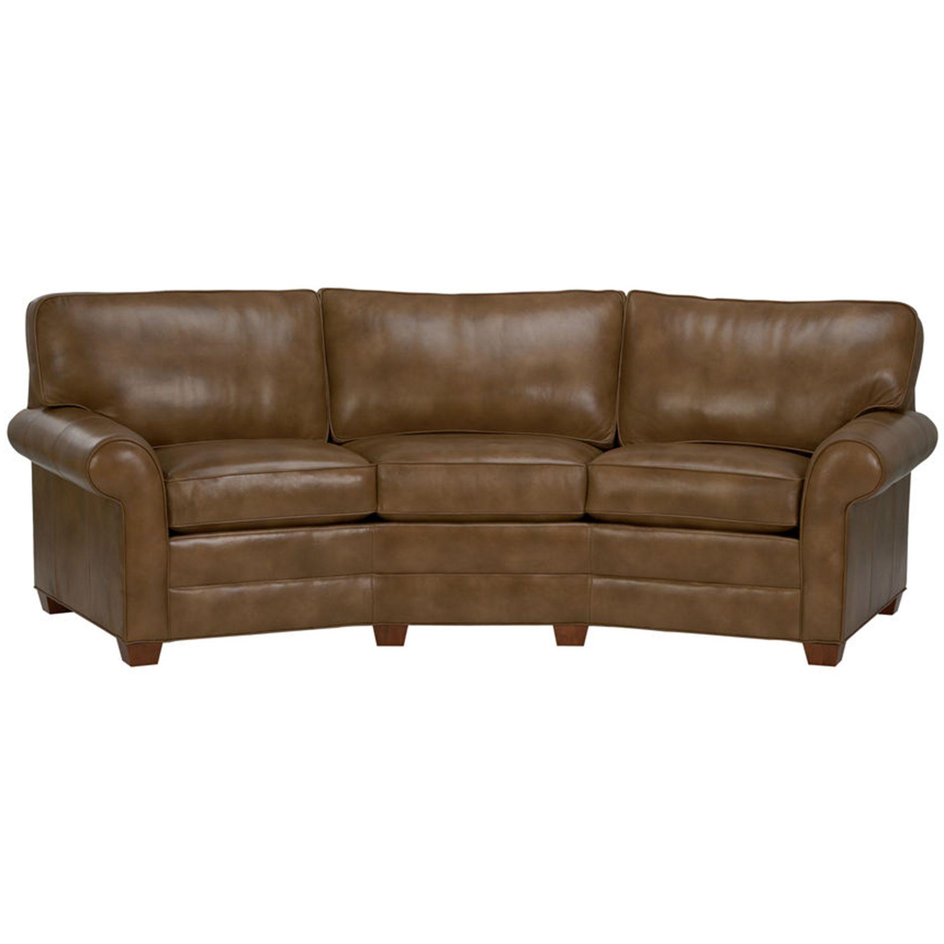 Bennett Roll Arm Conversation Leather Sofa   Ethan Allen US