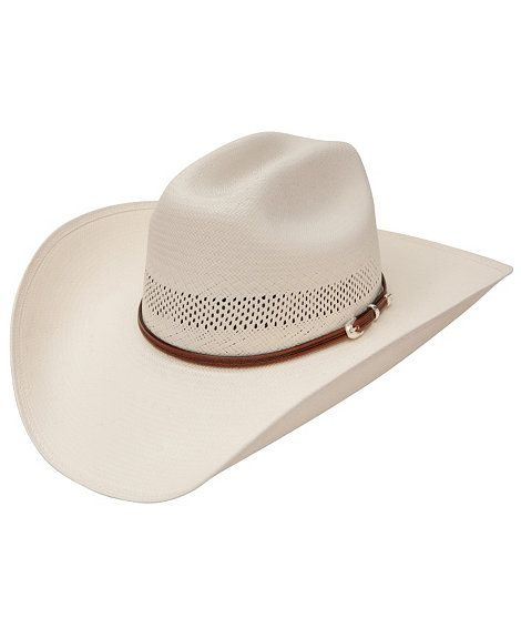 Stetson 100X Griffin Rodeo Western Cowboy Vented Straw Hat 4 1//4 inch brim