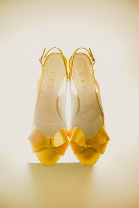 Pretty yellow shoes.