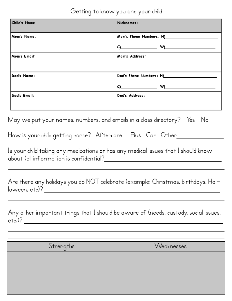 Student info sheet combine this template with the one i already student info sheet combine this template with the one i already use maxwellsz