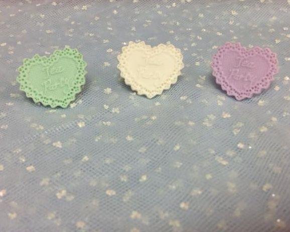 Tea Party Ribbon Heart Rings from Pastel Skies (Several Colors) - Lolita Desu