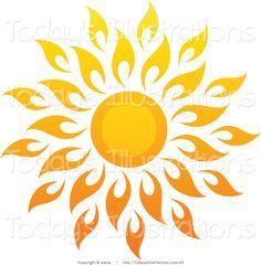 Sun rays fancy. Pretty drawing google search
