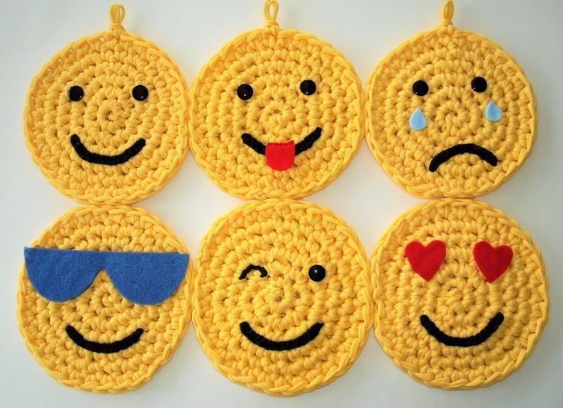 Photo of #Childs #Crochet #Decor #Emojis #gift #Hanging