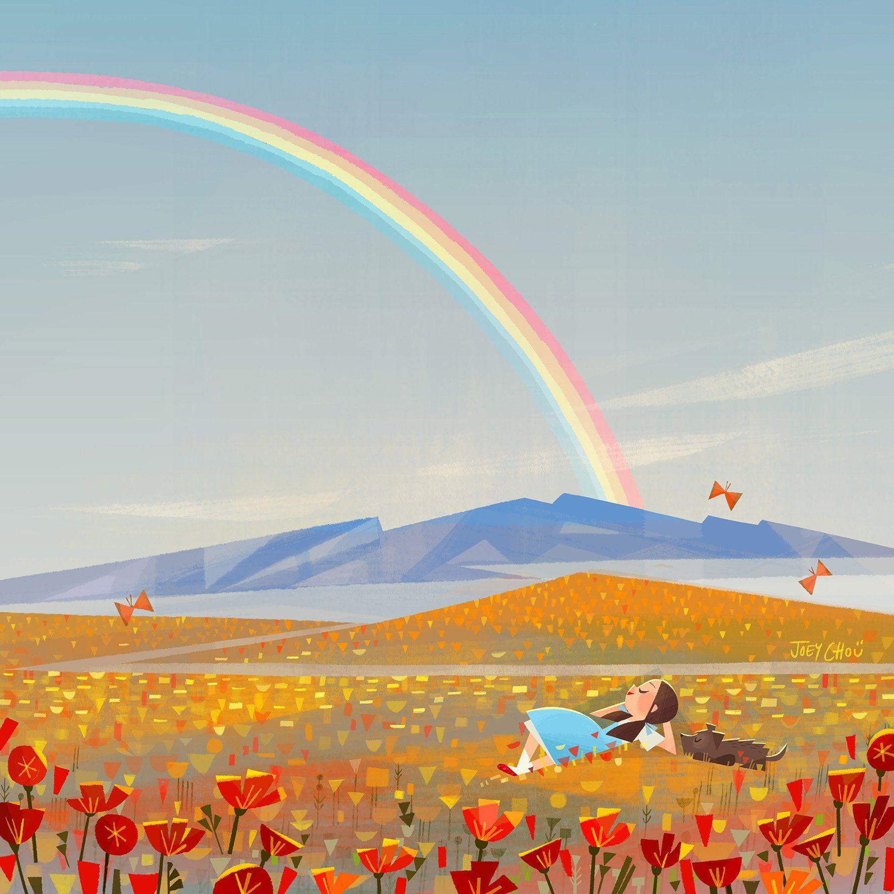 художник рисует радугу картинка затраты строительство загородного