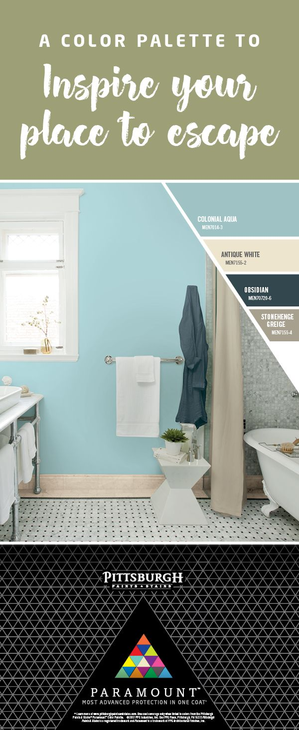 Relaxing Bathroom Colors: This Color Palette Features