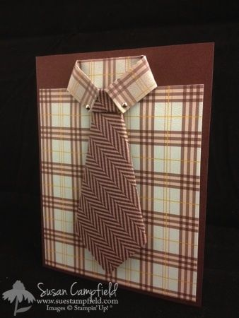 Men's Shirt and Tie Card