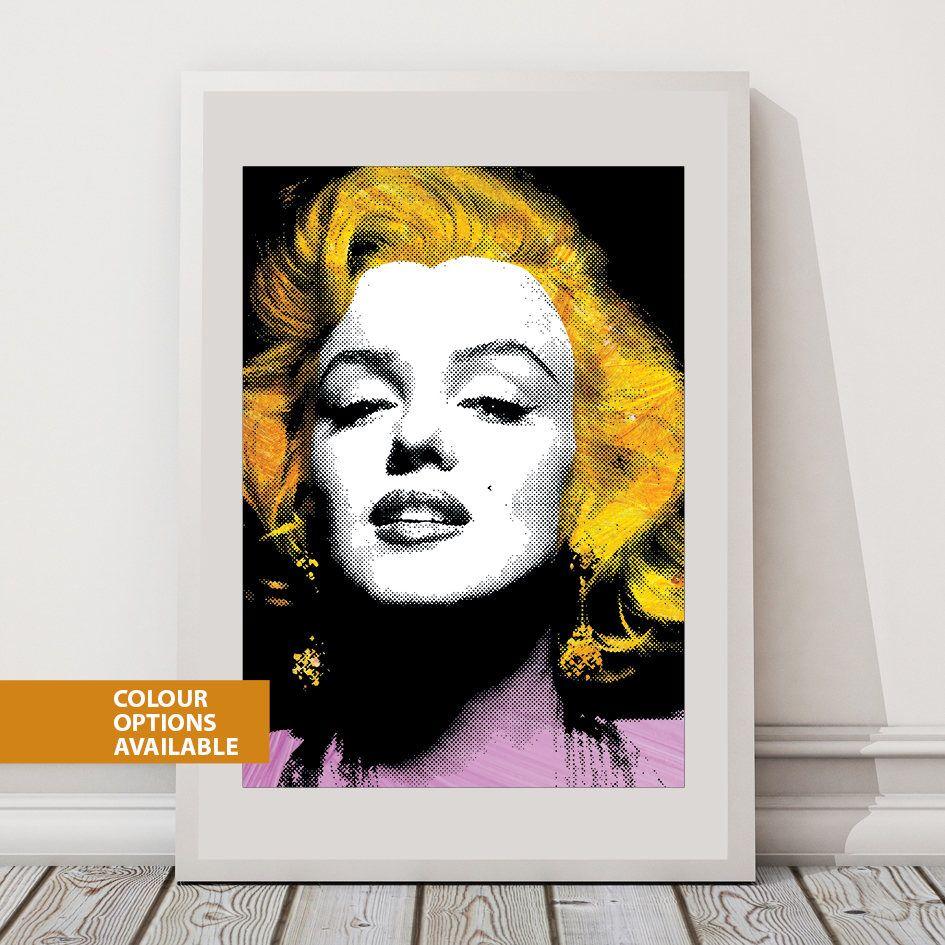 Free postage marilyn monroe print fashion icon iconic women iconic art print