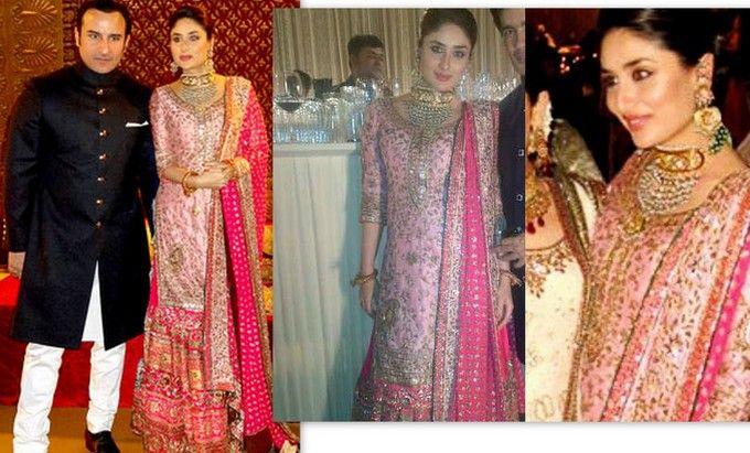 Http Www Peachesandblush Com Wp Content Uploads 2012 12 Kareena Kapoor Walima Lehenga Jpg Indian Wedding Dress Wedding Dress Trends Celebrity Wedding Dresses