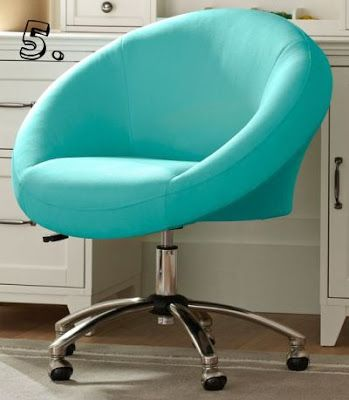 cute desk chair turquoise room