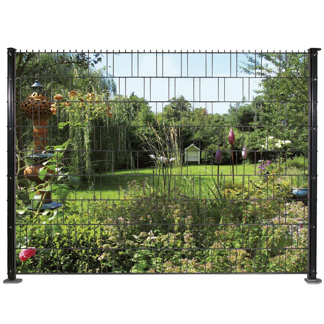 Sichtschutzstreifen Bedruckt Motiv Garten Sicht Traumgarten
