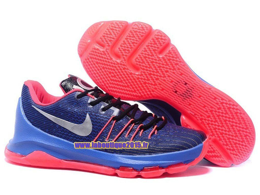 e9637107acdd Officiel Nike KD 8 VIII Chaussure de Nike Basket-ball Pas Cher Pour Homme  Bleu Rose