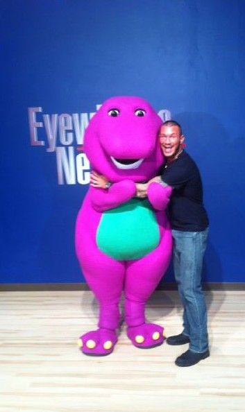 Randy Orton and BARNEY!!!!!!! What were you thinking Randy?!!!!!