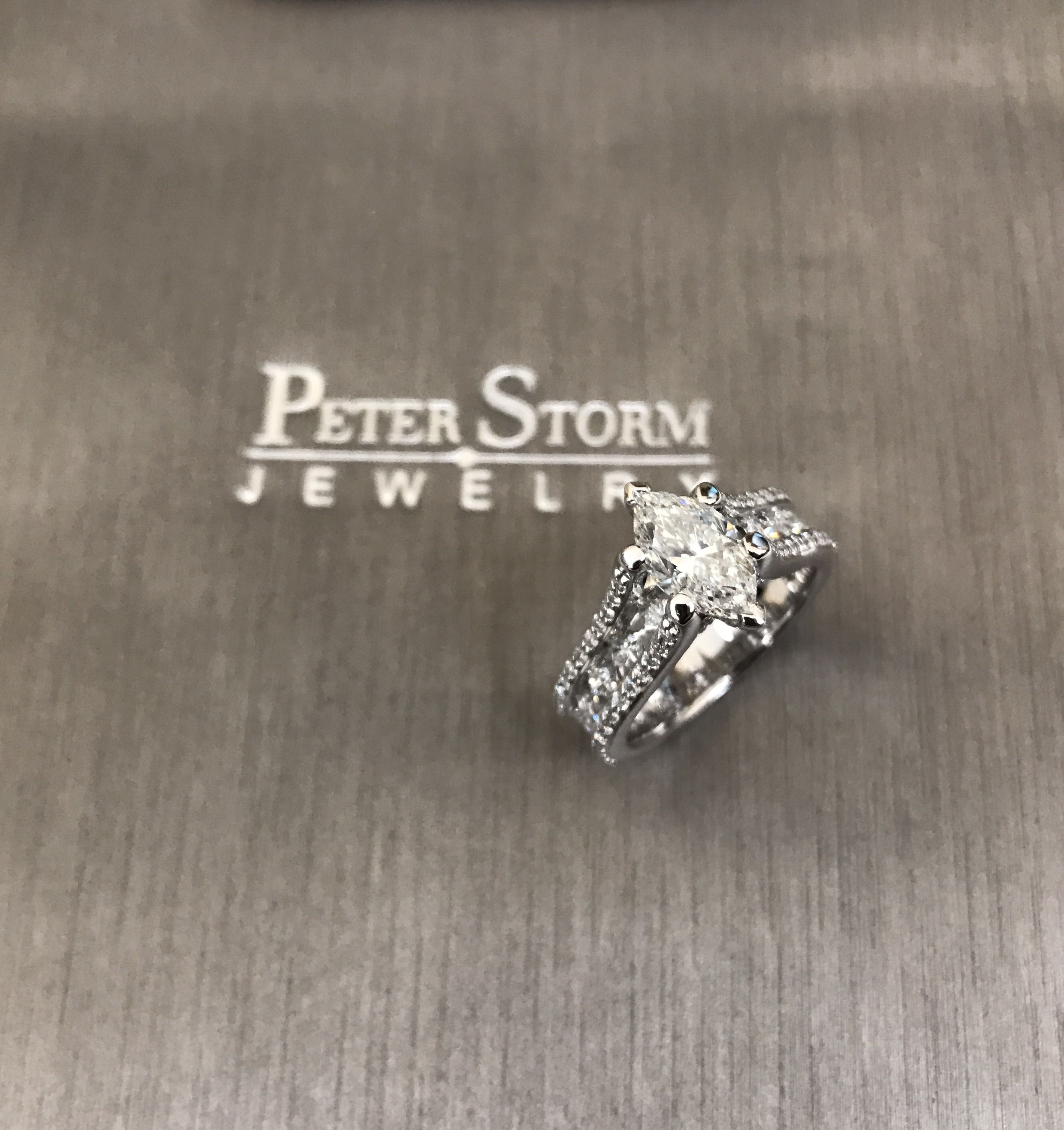 Sublime engagement ring with a beautiful special marquise diamond center  #Style WS174WD #peterstormjewelry #engagementring #engagement #marquise #bride #bridetobe #diamondring #wedding #sparkle #fiance #nofilter #life #love #hot #special #friday