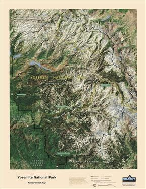 3d Topographic Map Of Yosemite 24 95 Maps Pinterest Yosemite
