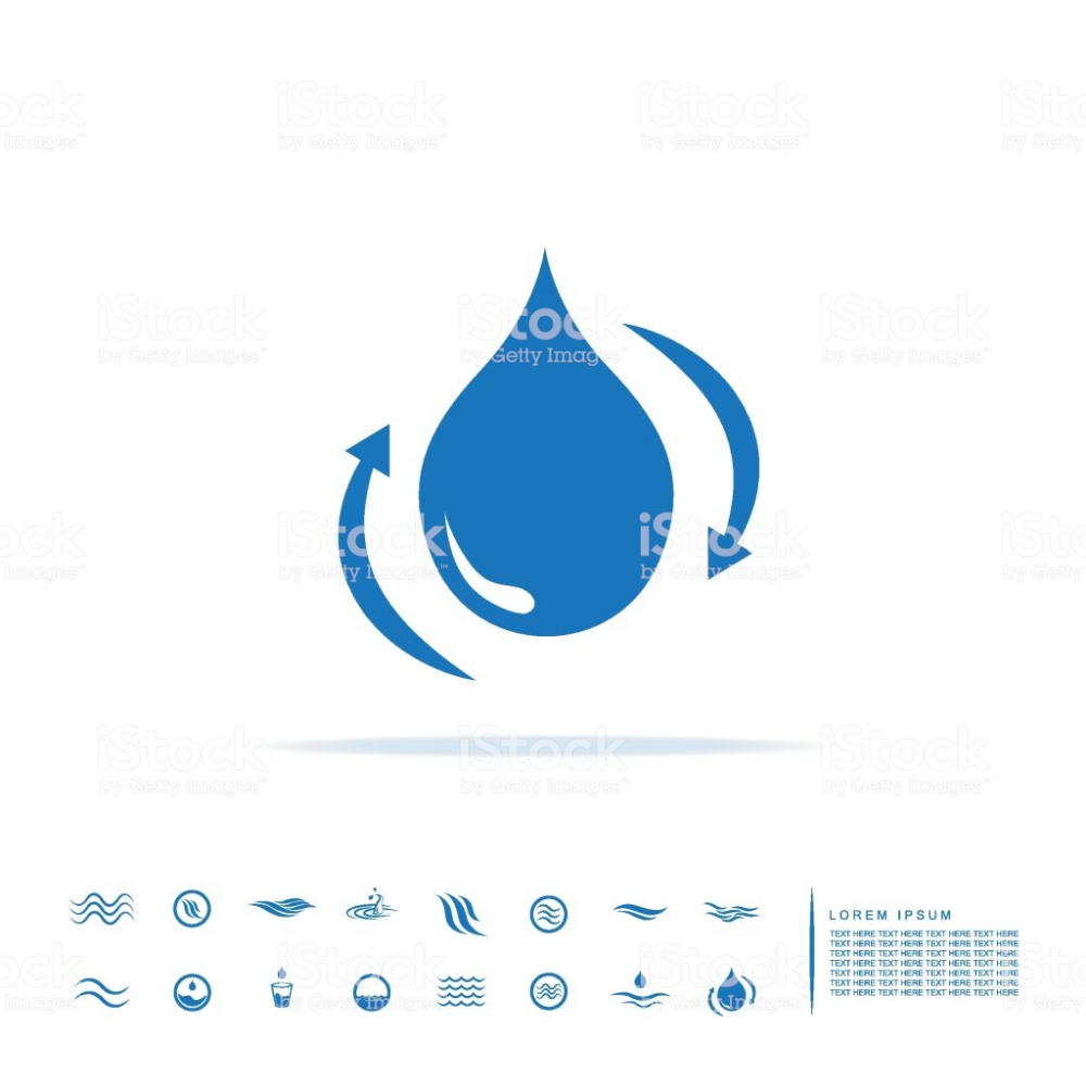 Water Icon Royalty Free Water Stock Vector Water Recycle Reuse Ecology Eco Drop Droplet Nature Icon Vector Sign Water Icon Icon Free Vector Art