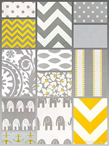 Modern Crib Set- Corn Yellow and Grey 3 Pc. Set- Gender Neutral Nursery Decor- USA Lolasita's http://www.amazon.com/dp/B00NZI6J40/ref=cm_sw_r_pi_dp_fSQtub1CVRM23