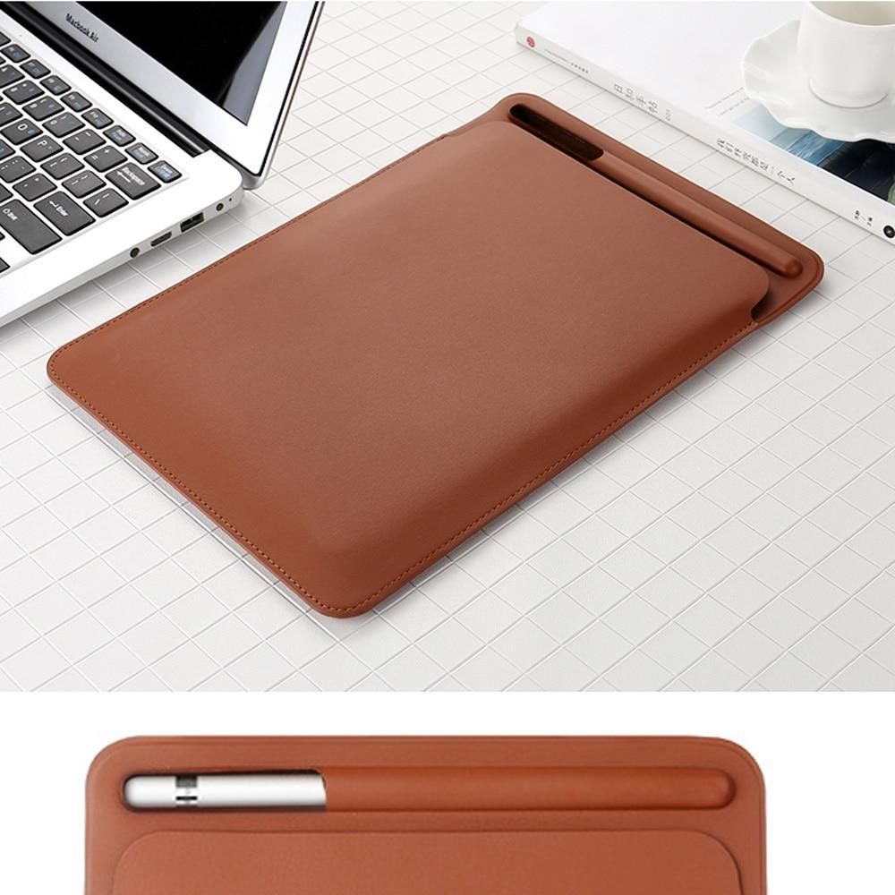 iPad Pro 12.9 leather Sleeve Case  Pouch Bag Cover with Pencil Slot