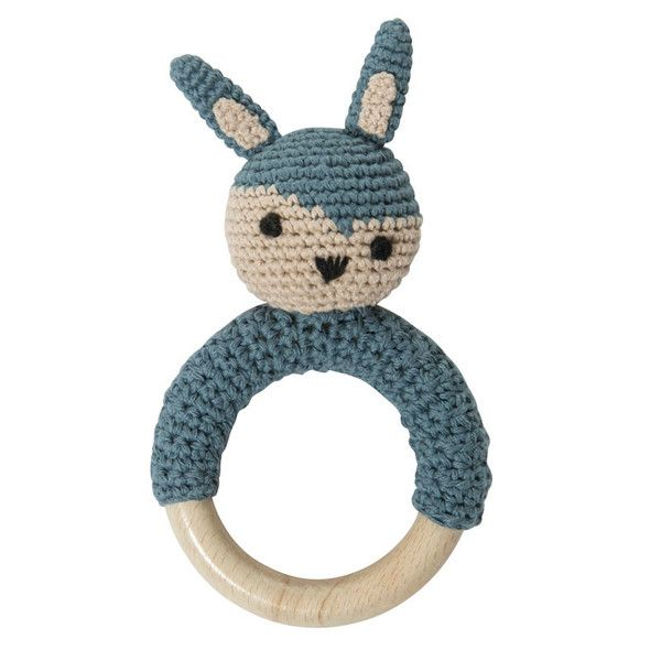 Rangle m. kanin på træring, lyseblå