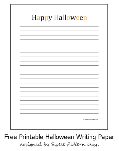 Happy Halloween Writing Paper   Vocabulary   Pinterest   Happy halloween
