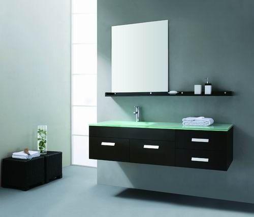 AQUA DECOR Janeiro 59 Inch Modern Bathroom Vanity Set   Espresso