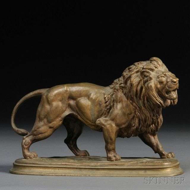 after-paul-edouard-delabrierre-french-1829-1912-bronze-model-of-a-lion.jpg (640×640)