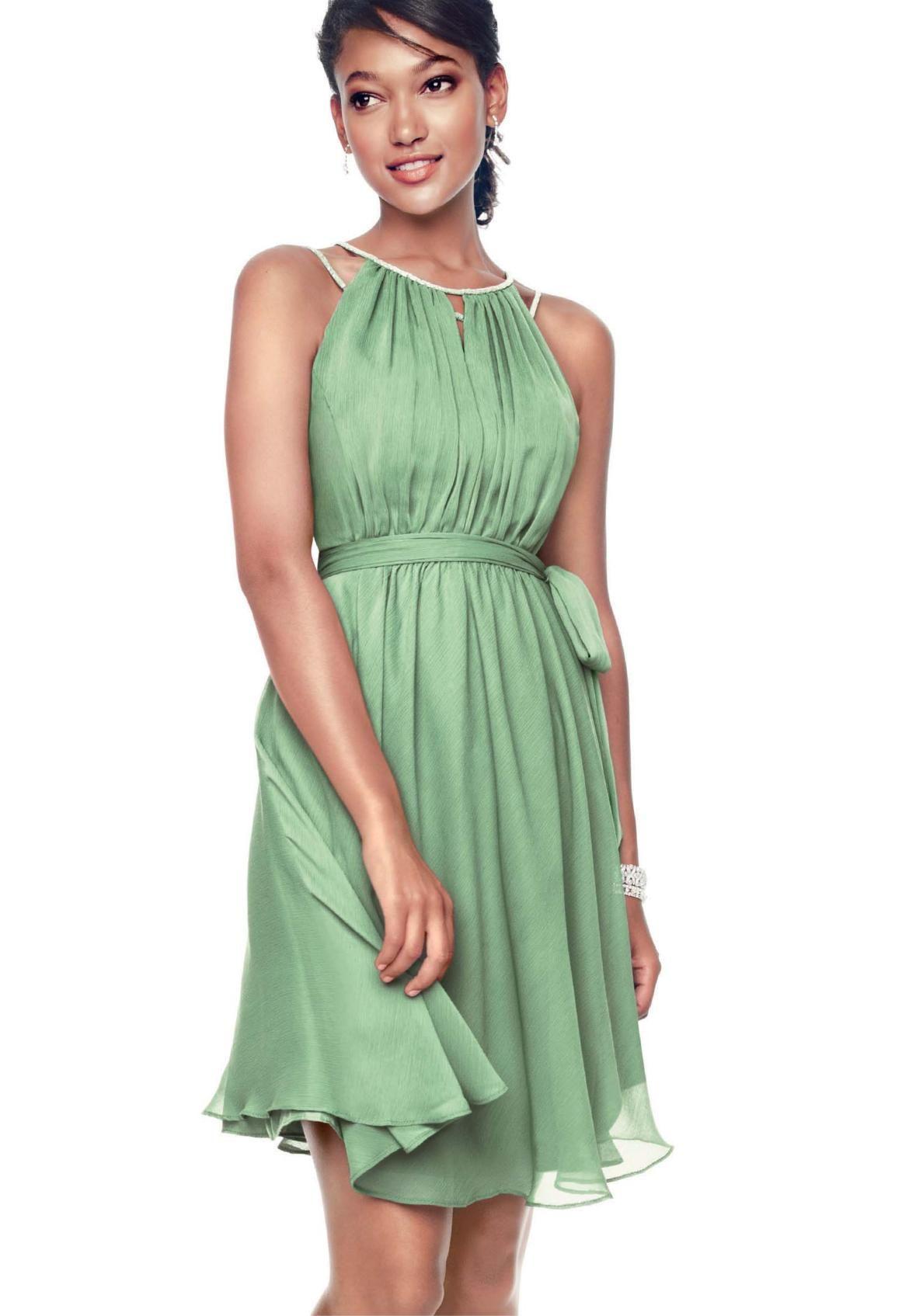 Green short dress for wedding  Davidus Bridal Online Catalog  Bridesmaids  Pinterest  Weddings