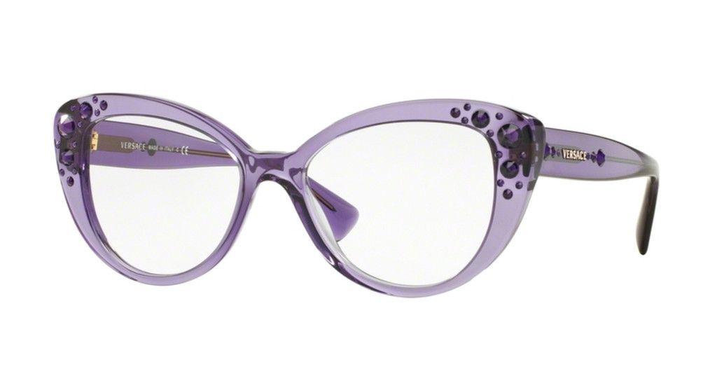 8e208d1e59 Versace OVE3221B Trasparent Violet Eyeglasses