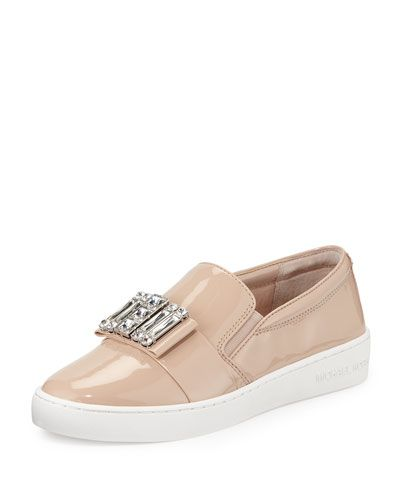 a9f088077 Contemporary Fashion-Forward Trends at Neiman Marcus. X2WY9 MICHAEL Michael  Kors Michelle Faux-Patent Jewel Sneaker, Light Blush