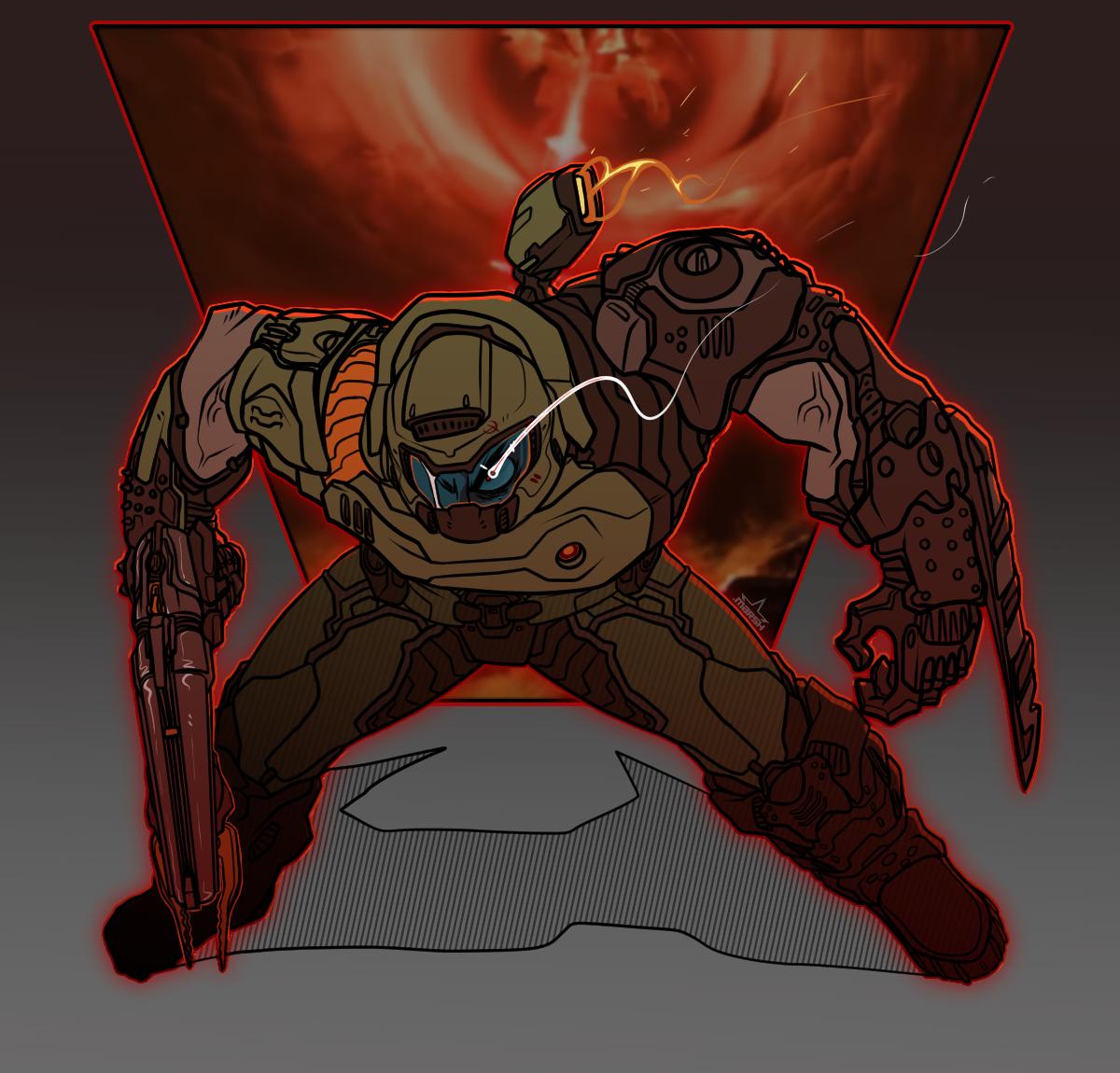 Menacing Marshmallow Eternal Doom Videogame Doom Slayer