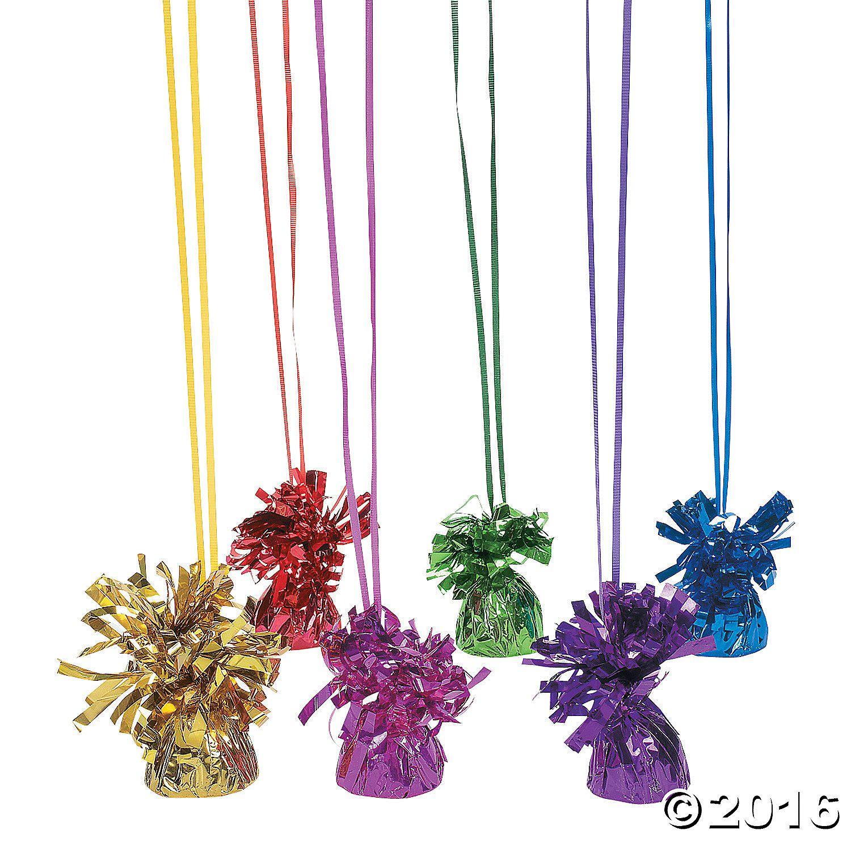Balloon Weights - Metallic - Assorted Colors - OrientalTrading.com