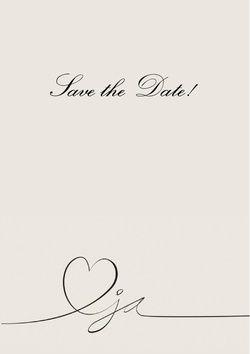Vorderseite Hochzeitseinladung heart with ja in grey save the