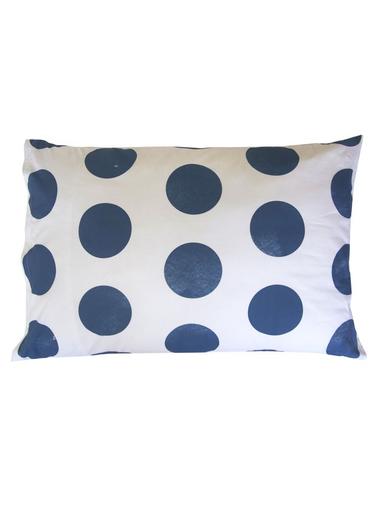 Polka Dot Pillowcases Entrancing Image Of Navy Polka Dot Pillowcase  Home Textiles  Pinterest Decorating Design