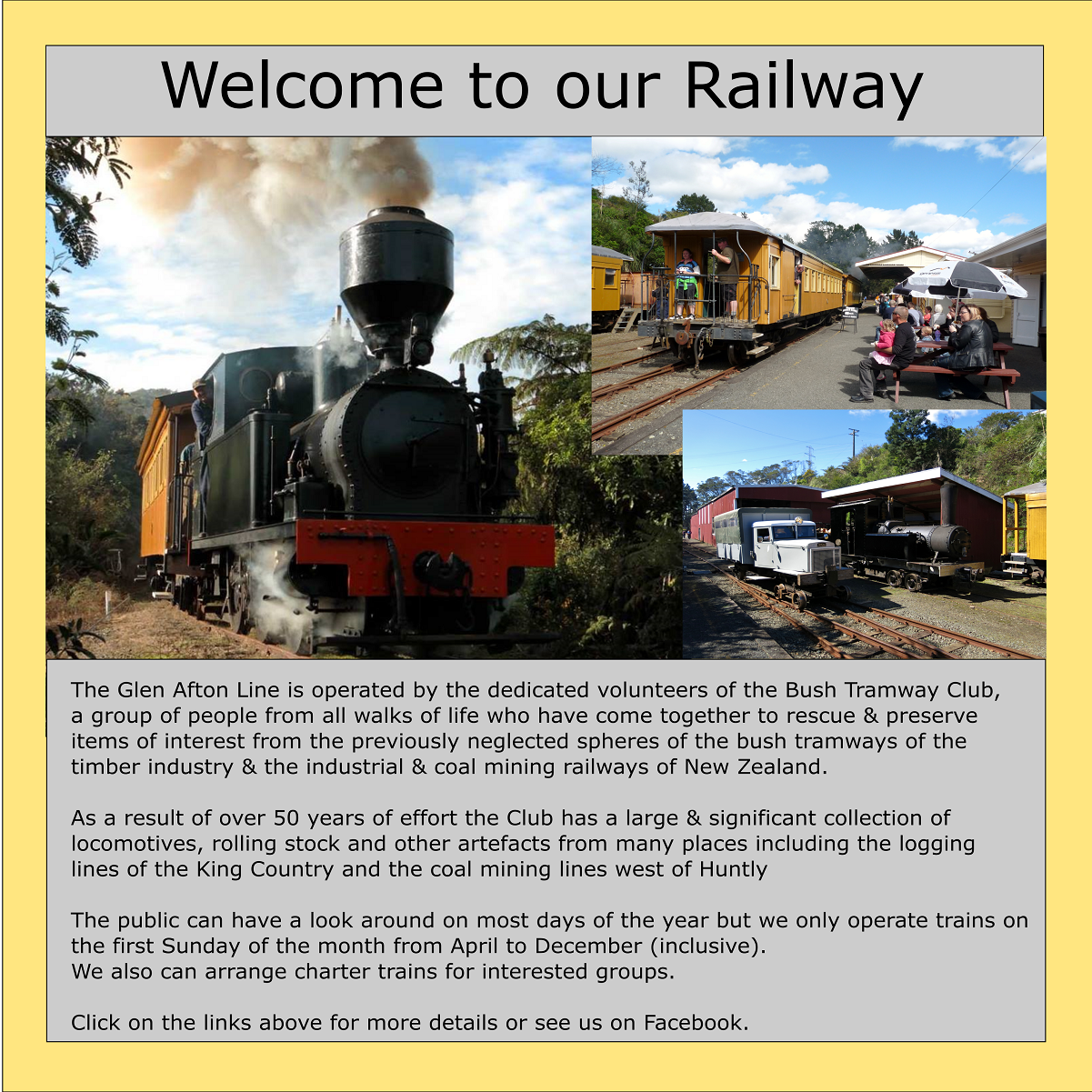 The Bush Tramway Club Index page Heritage railway