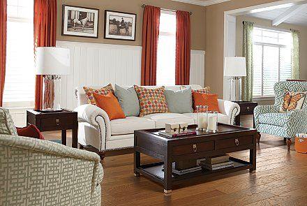 Light Colored Furniture Pops Against A Darker Colored